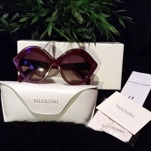 Valentino Cat Eye Scarlet Sunglasses